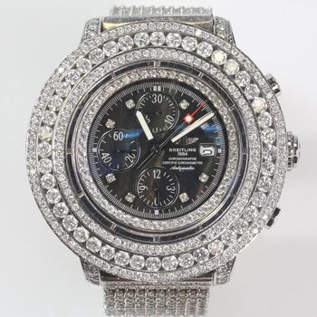 Breitling Super Avenger XL 26.40ct TW Diamond Watch - Evaluated By Independent Specialist
