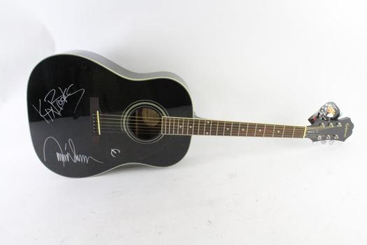 Brooks & Dunn Signed Epiphone Acoustic Guitar