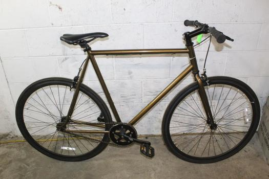 Brown Single Speed Road Bike