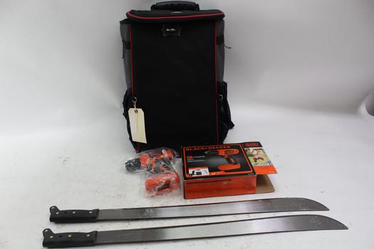 BSX Rolling Bag With Seymour Machetes And More, 4 Pieces
