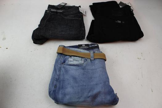 Buffalo David Bitton, Pd&c, & Ecko Unltd Mens Pants; 3 Pieces