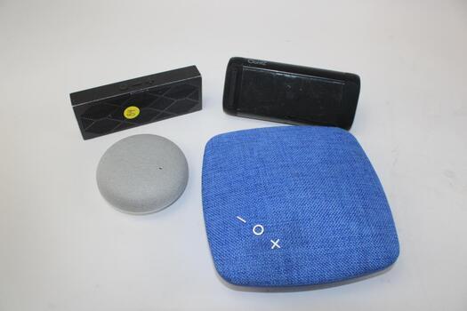 Bulk Lot Of Portable Speakers 4 Pieces Total