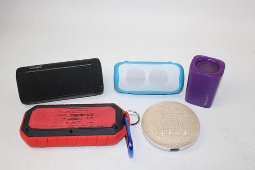 Bulk Lot Of Portable Speakers 5 Pieces Total