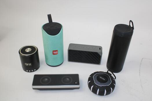 Bulk Lot Of Portable Speakers 6 Pieces Total