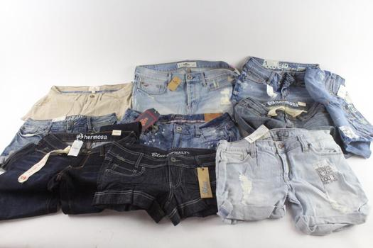 Bullhead And Other Brands Juniors Jeans And Shorts, 10 Pieces