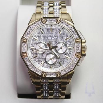 Bulova Crystal Studded Watch