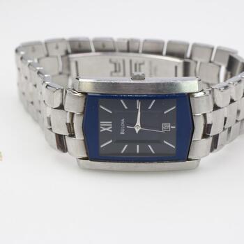Bulova Steel Blue Dial Watch