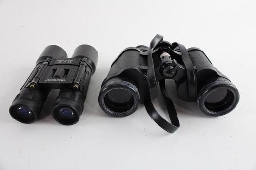 Bushnell And Sears Binoculars, 2 Pieces