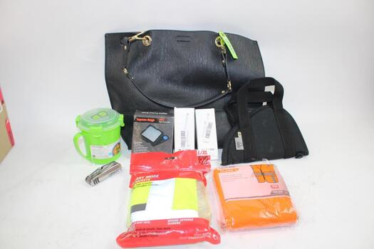 Calvin Klein Black Leather Handbag