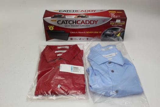 Calvin Klein Mens Shirts, As Seen On Tv Catch Caddy, Size 20, 3 Pieces