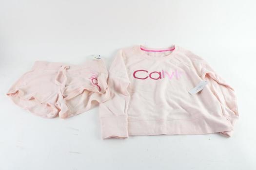 Calvin Klein Sweatshirt And Shorts, M, 2 Pieces