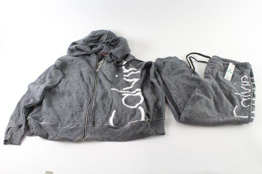 Calvin Klein Zip Up Hoodie Size L And Sweatpants Size L, 2 Pieces