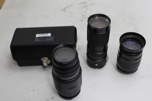 Camera Lens: Sigma, Vivitar: 3 Items