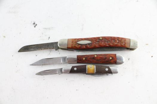 Camillus And Other Knives, 3 Pieces
