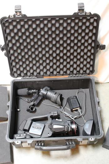 Canon 3CC HD Video Camera Recorder With Pelican Case And Other Accessories