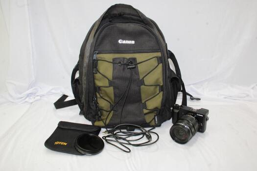 Canon Backpack With Panasonic Lumix Camera