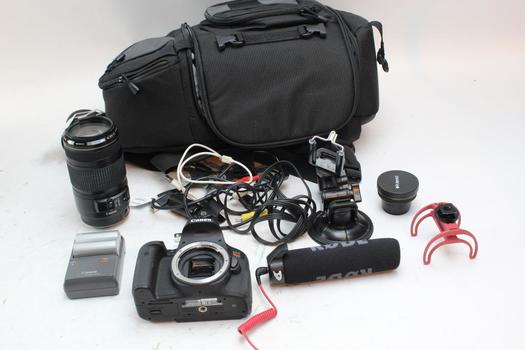 Canon EOS Rebel T6i Digital Camera With Accessories