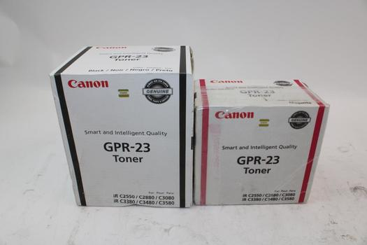 Canon Gpr-23 Toners: Magenta, Black: 2 Items