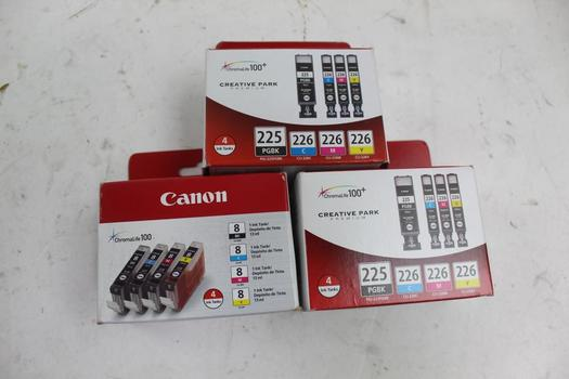 Canon Ink Tanks Sets; 3 Pieces