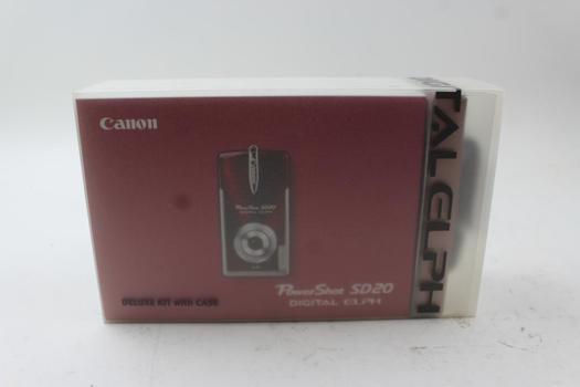 Canon Power Shot Sd20 Digital Elph Deluxe Kit W/case