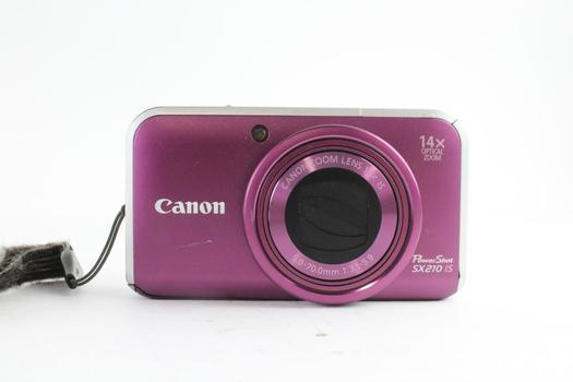 Canon Power Shot Sx 210 IS Digital Camera