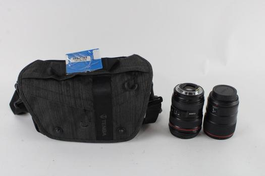 Canon Standard And Zoom Lense With Case