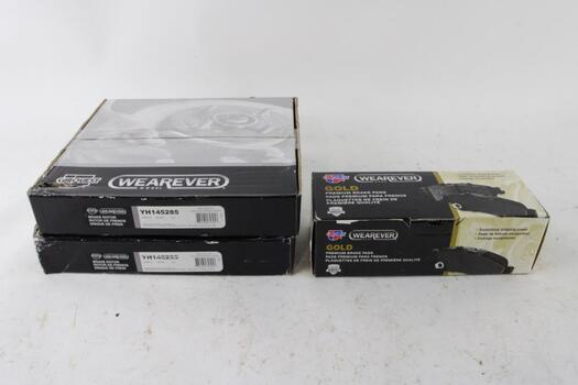 Car Quest Brake Rotor And Brake Pad Lot, 3 Pieces