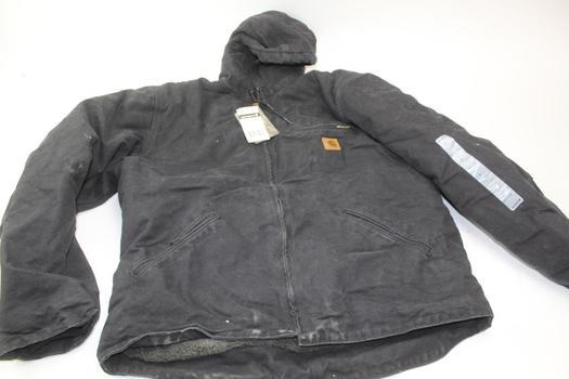 Carhartt Men's Sandstone Sherpa Lined Sierra Jacket Size L