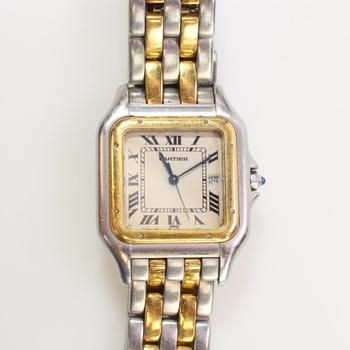 Cartier Or Et Acier Grand 18k Gold Accented Watch - Evaluated By Independent Specialist