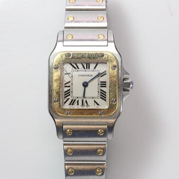 Cartier Santos Galbee 18k Gold Accented Watch - Evaluated By Independent Specialist