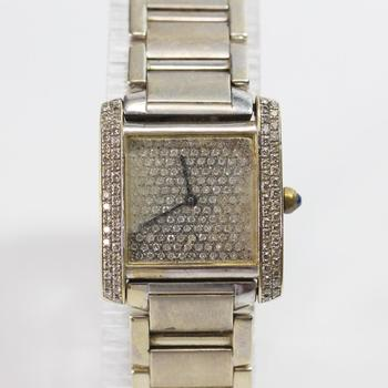 Cartier Tank Diamond Watch - Evaluated By Independent Specialist