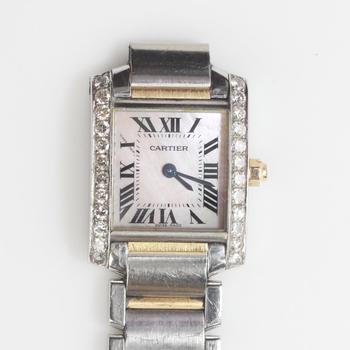 Cartier Tank Francaise 0.75ct TW Diamond Watch - Evaluated By Independent Specialist