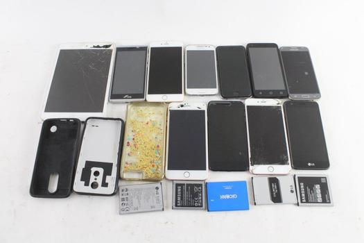 Cell Phone Lot, 10 Pieces, Sold For Parts