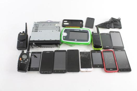 Cell Phone Lot, 10 Pieces, Sold For Parts And More