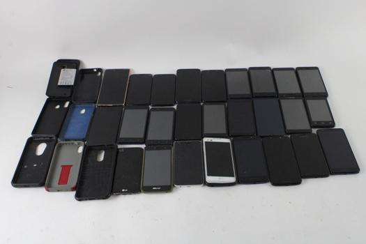 Cell Phone Lot, 15+ Pieces, Sold For Parts