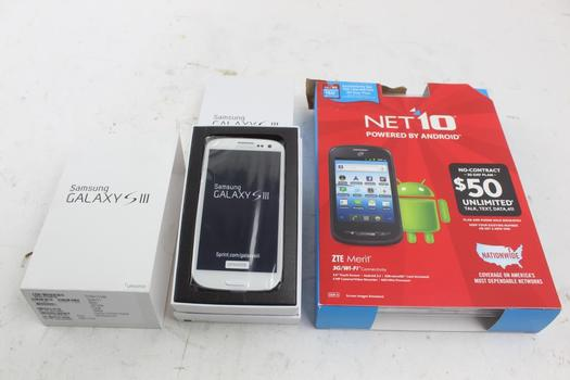 Cell Phone Lot, 2 Pieces, Sold For Parts