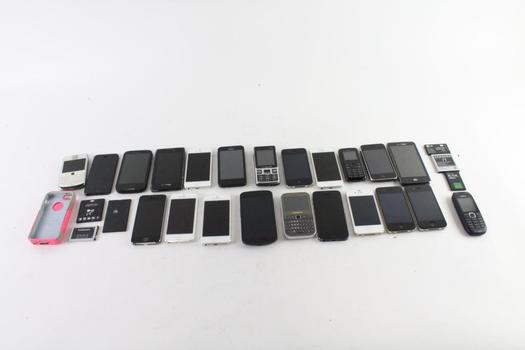 Cell Phone Lot, 22 Pieces, Sold For Parts