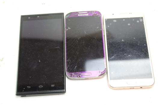 Cell Phone Lot,  3 Pieces, Sold For Parts