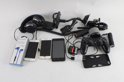 Cell Phone Lot, 3 Pieces, Sold For Parts And More