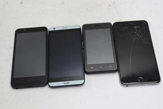 Cell Phone Lot, 4  Pieces, Sold For Parts