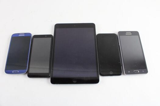 Cell Phone Lot, 4 Pieces, Sold For Parts And More