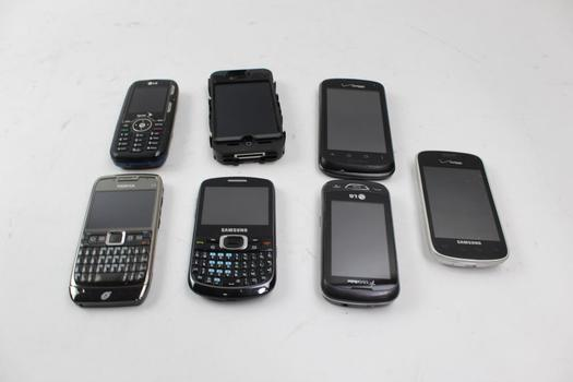 Cell Phone Lot: 5+ Pieces, Sold For Parts