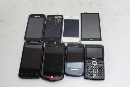 Cell Phone Lot, 5+ Pieces, Sold For Parts