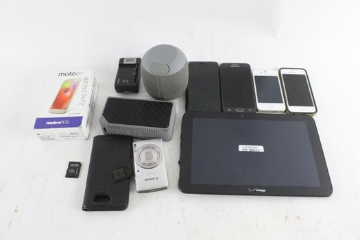 Cell Phone Lot, 5 Pieces, Sold For Parts And More