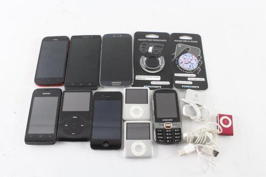 Cell Phone Lot, 6 Pieces, Sold For Parts And More