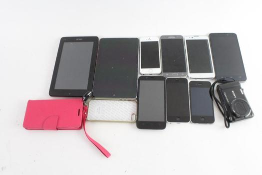 Cell Phone Lot, 7 Pieces, Sold For Parts And More