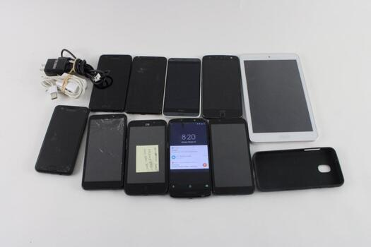 Cell Phone Lot, 9 Pieces, Sold For Parts