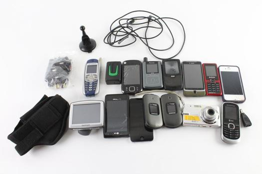 Cell Phone Lot, 9 Pieces, Sold For Parts And More