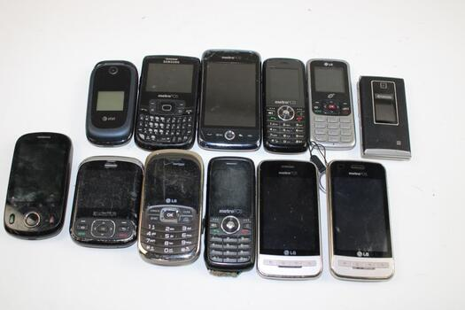 Cell Phone Lot,  Pieces, Sold For Parts