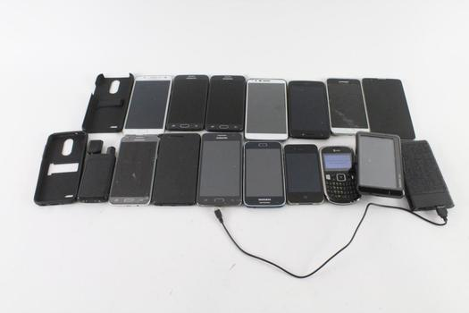 Cell Phone Lot,13 Pieces, Sold For Parts